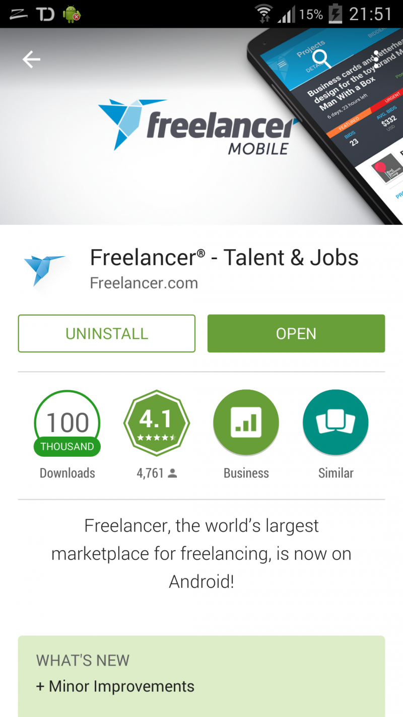 freelancer.com android app