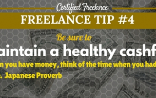 Freelance Tip - Maintain a healthy cash flow