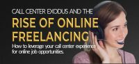 Call Center exodus and the rise of online freelance jobs