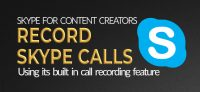 How to record skype calls using skype for content creators